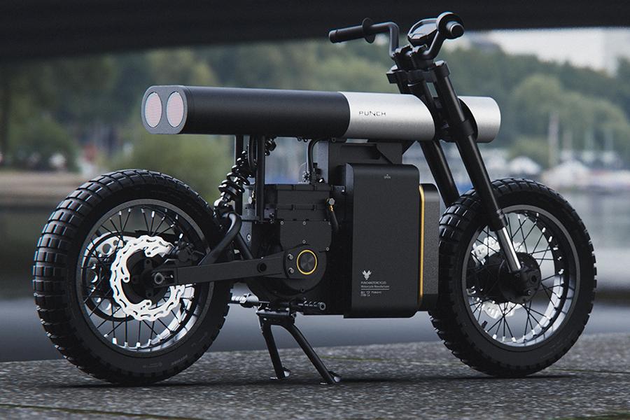 Punch Urban Electric Bike zurück