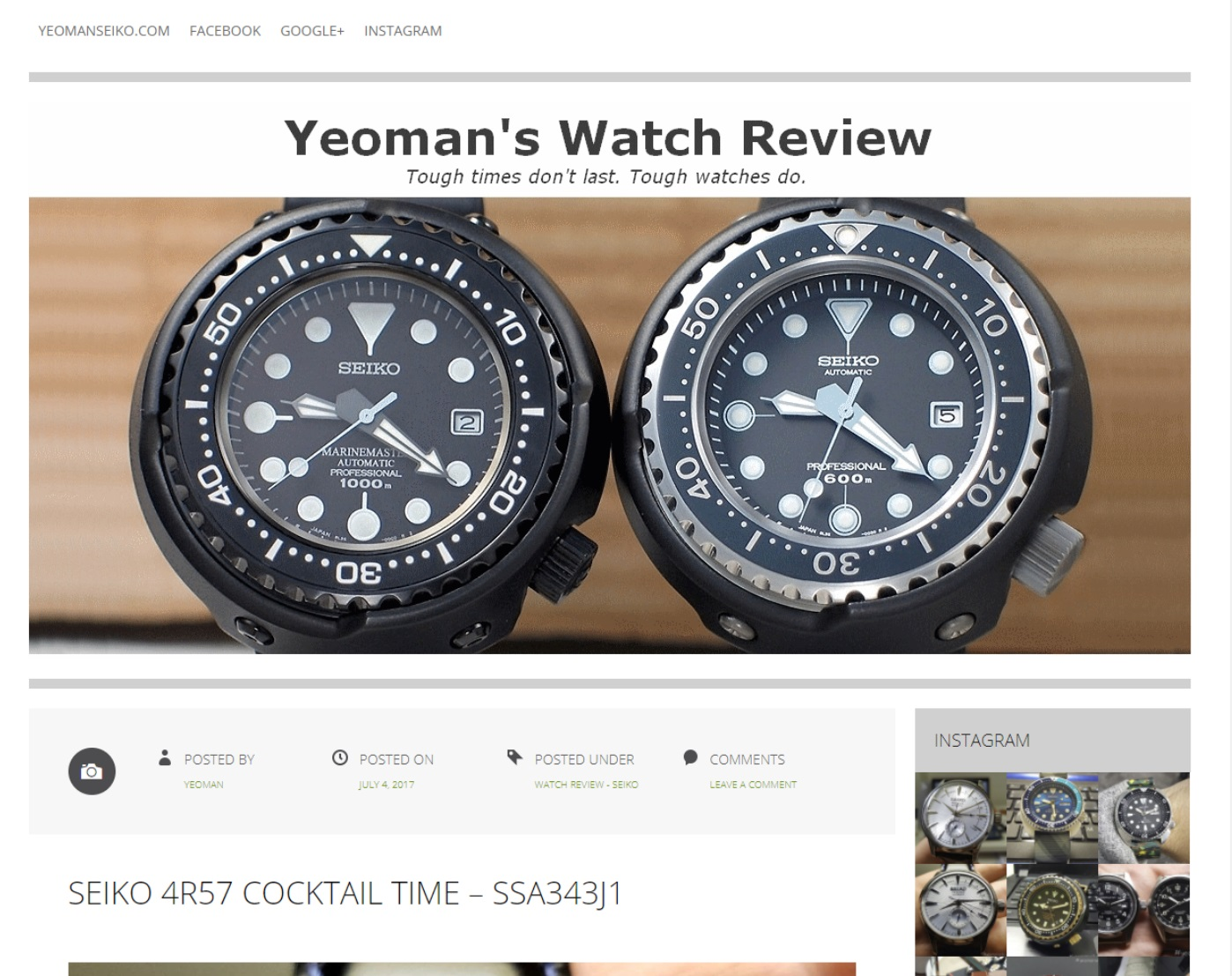 yeoman's watch review blog