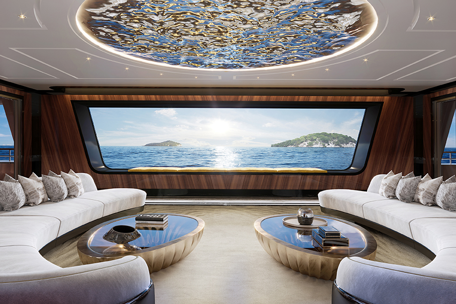 Tfotiadis Design 95m Ultra2 Super Yacht Lounge