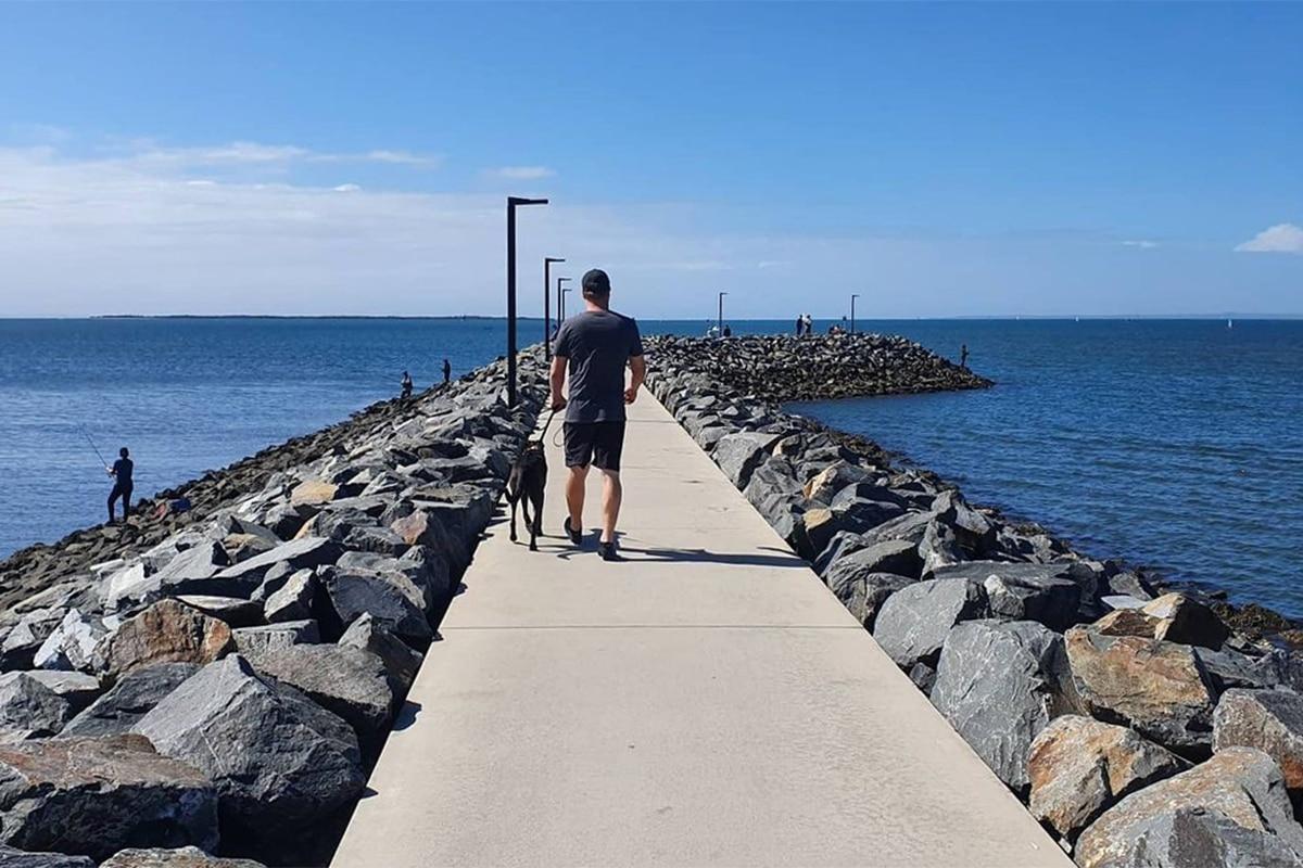 Beste Angelplätze in Brisbane Manly Boat Harbor Rock Wall