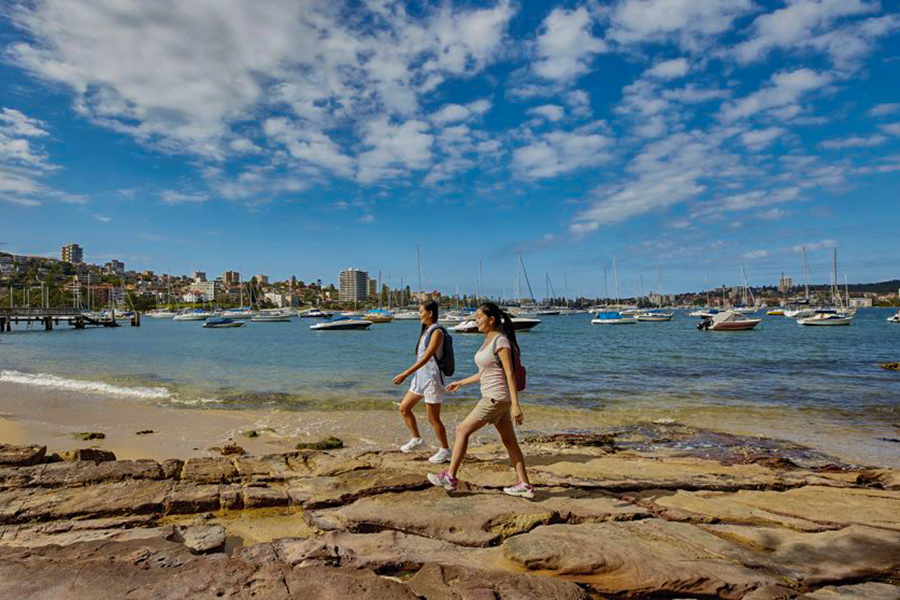 Beste Wanderwege und Wanderwege Sydney Manly to Spit Walk