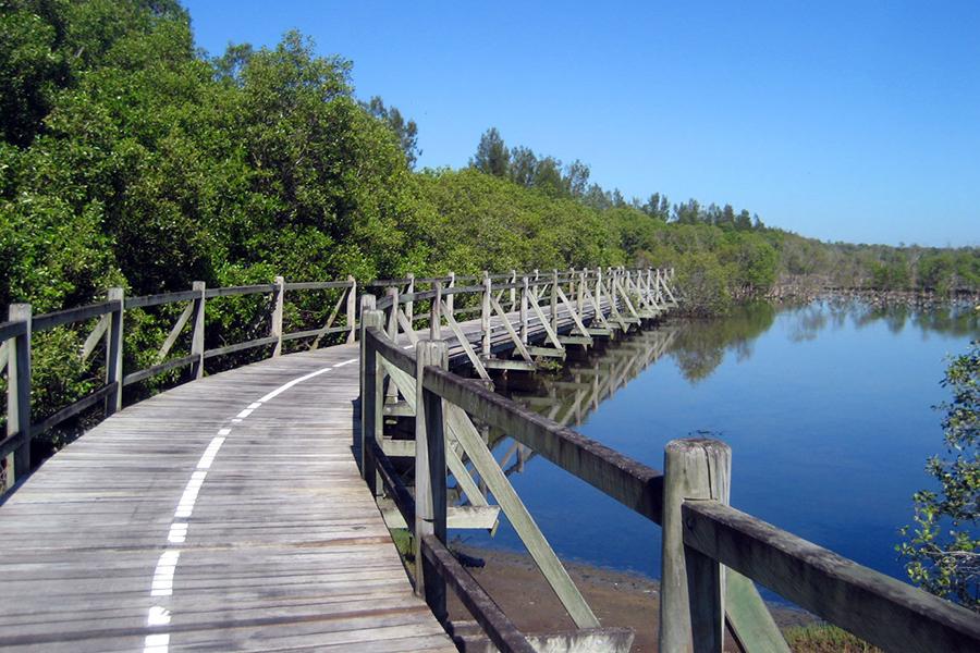 Beste Wanderwege in Brisbane Boondall Wetlands Bikeway, Boondall Wetlands