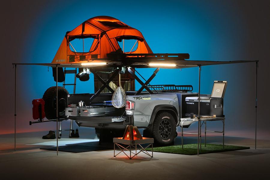 Toyota verwandelte ein Tacoma Pickup Bed in den Ultimate Overlanding Trailer