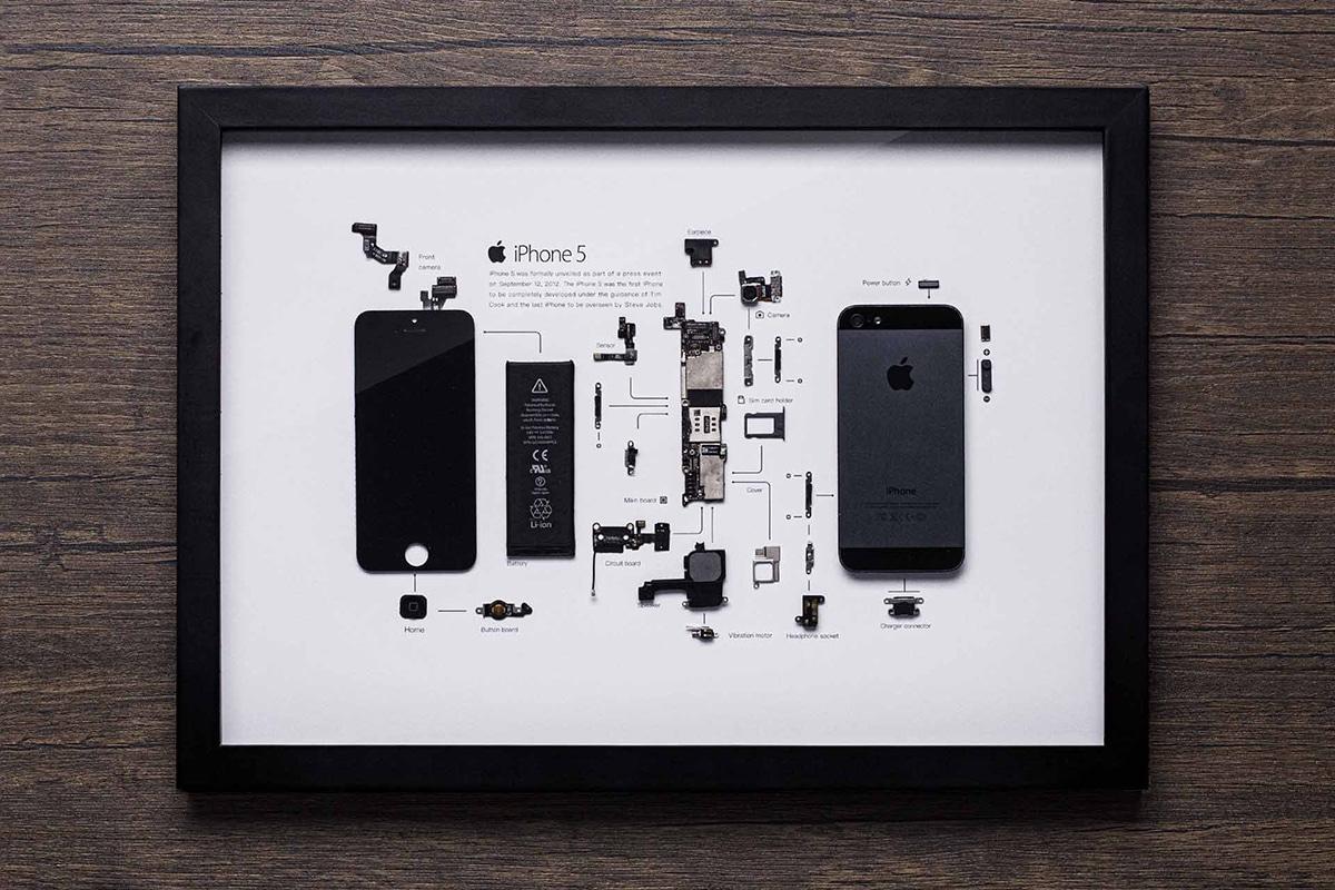 Grid Studio gerahmte Smartphones iPhone 5