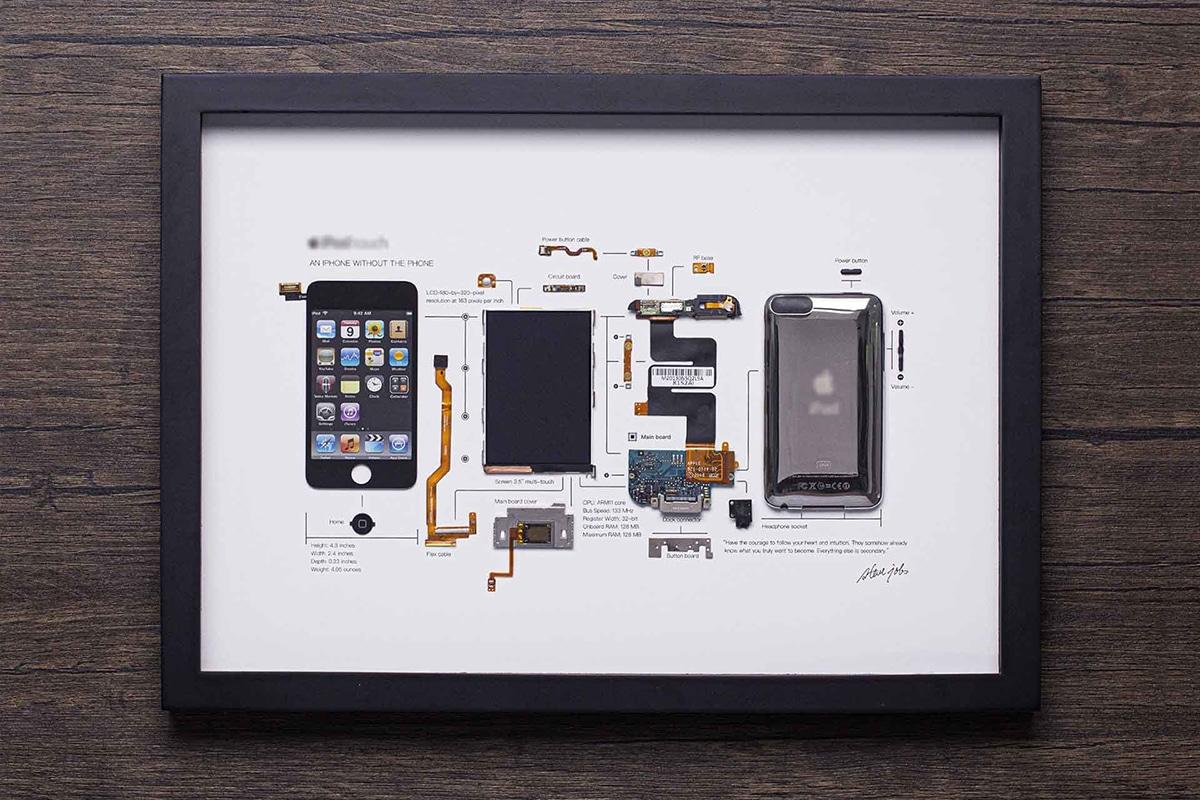 Grid Studio gerahmte Smartphones iPod Touch