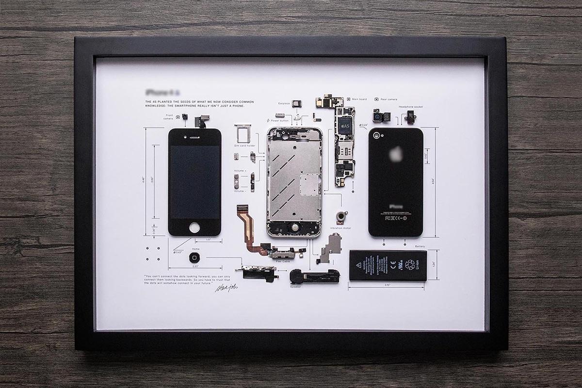 Grid Studio gerahmte Smartphones iPhone 4s
