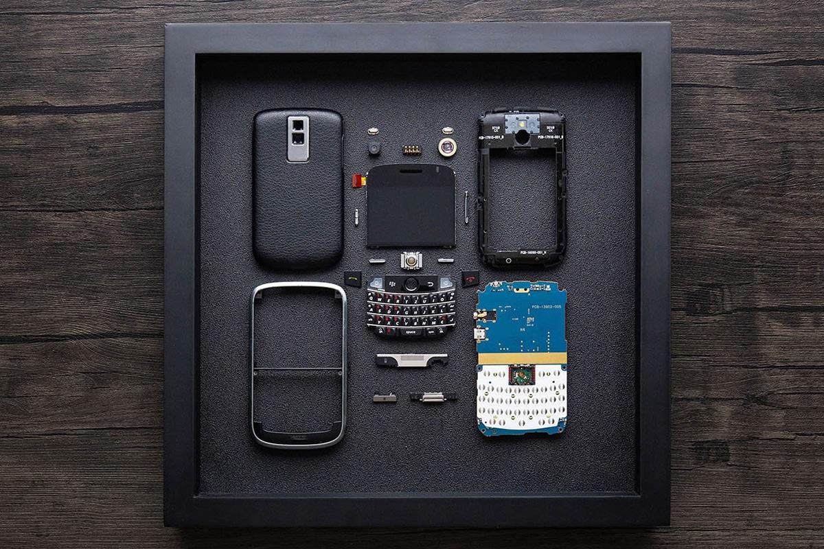 Grid Studio gerahmte Smartphones Blackberry