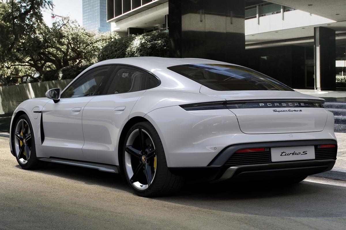 2021 Porsche Taycan Limousine Rückansicht