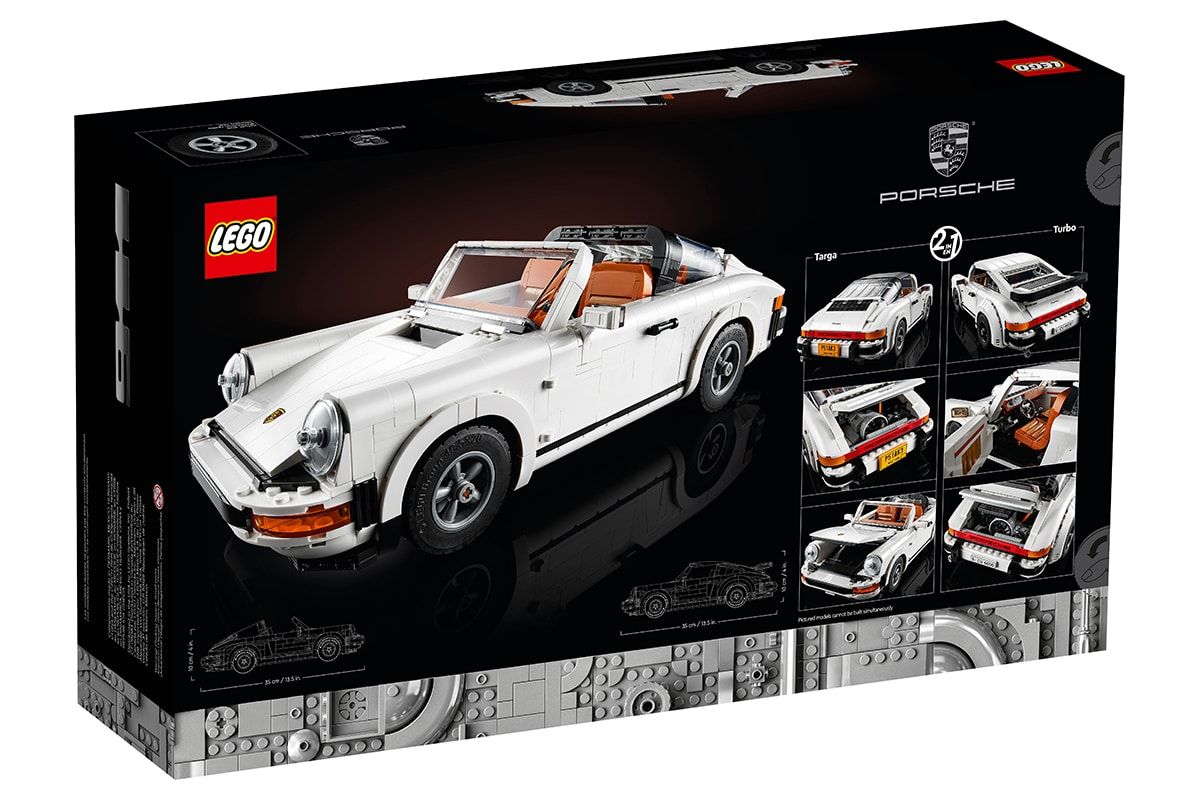 Lego Porsche 911 Building Set Box zurück