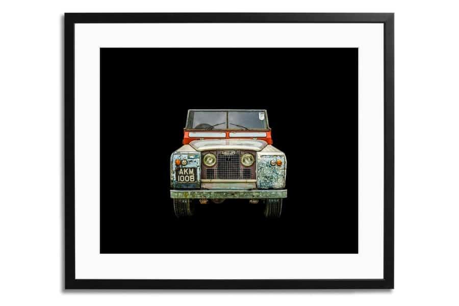 Land Rover Serie II Ein gerahmter Druck