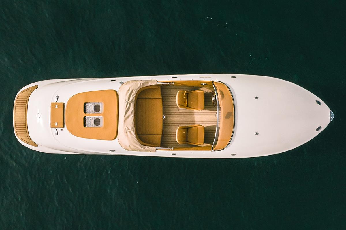 Hermes Speedster E Dayboat Draufsicht