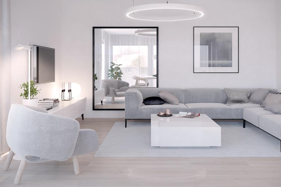 Minimalistische Wohnzimmeridee 8