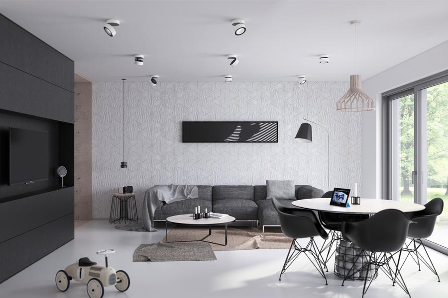 Minimalistische Wohnzimmeridee 2