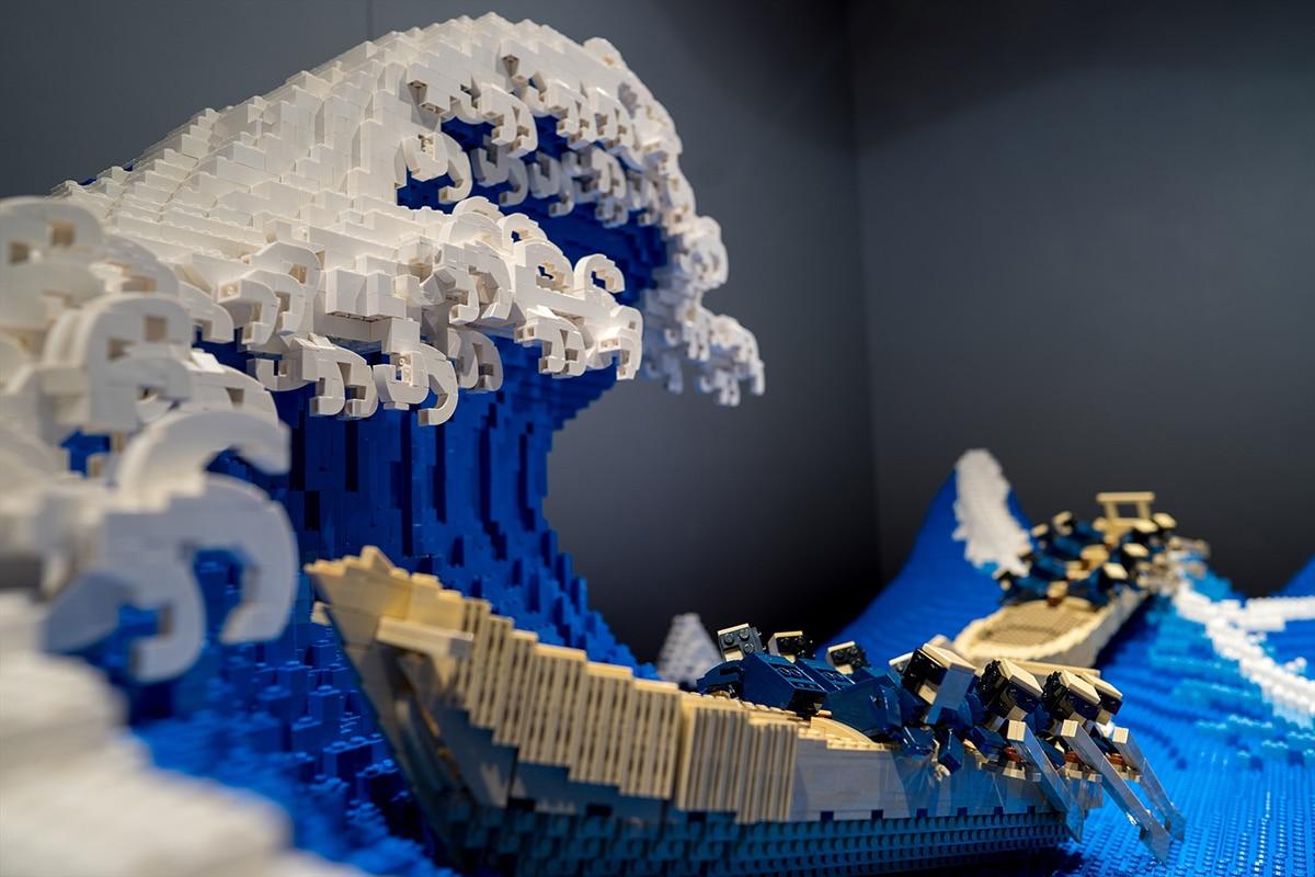 Die Große Welle aus Legoboot