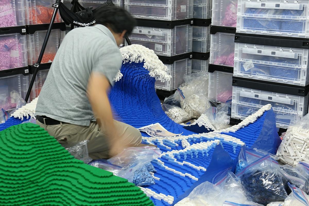 Gebäude The Great Wave aus Lego