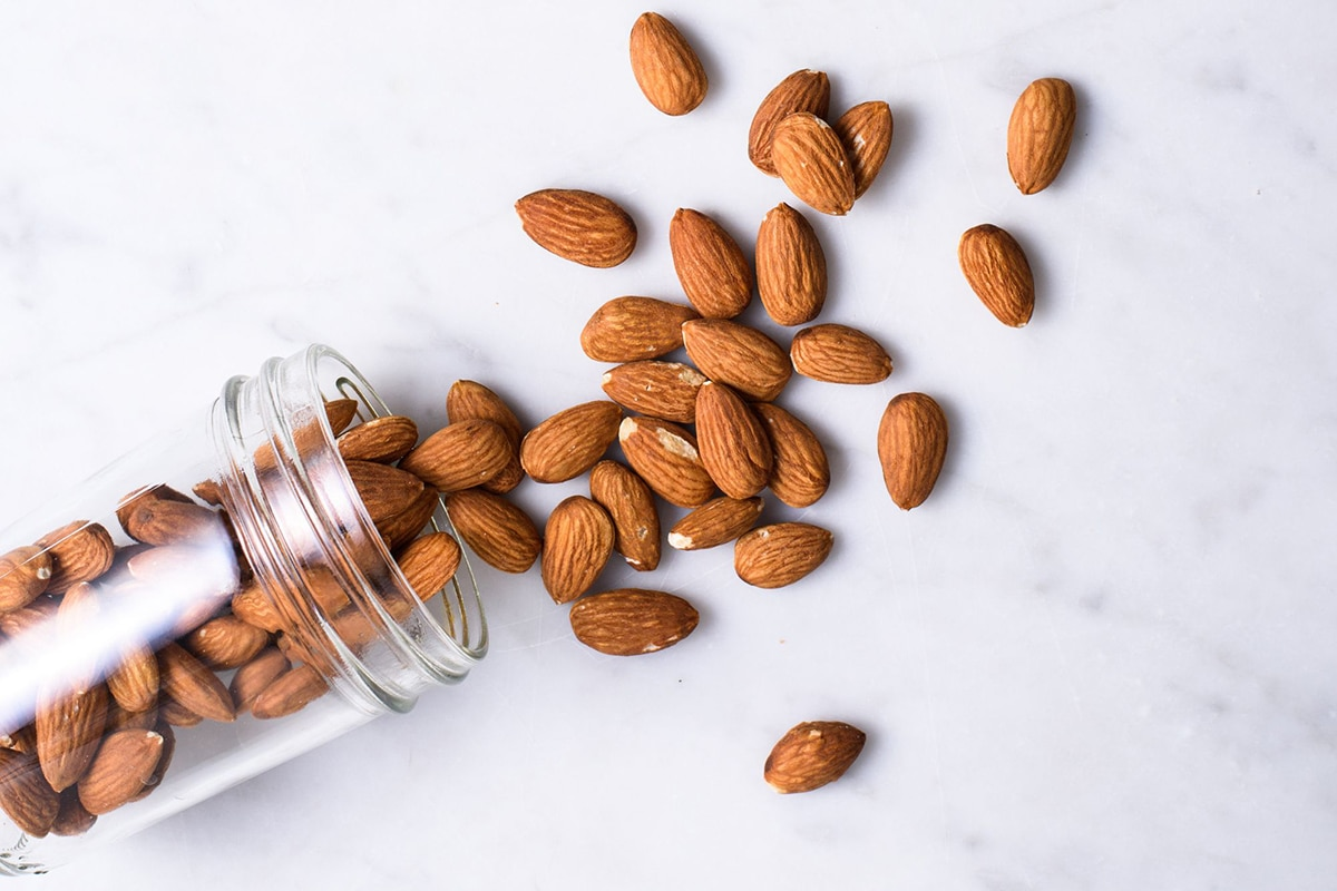 Best High Protein Snacks for On the Go Handful of almonds