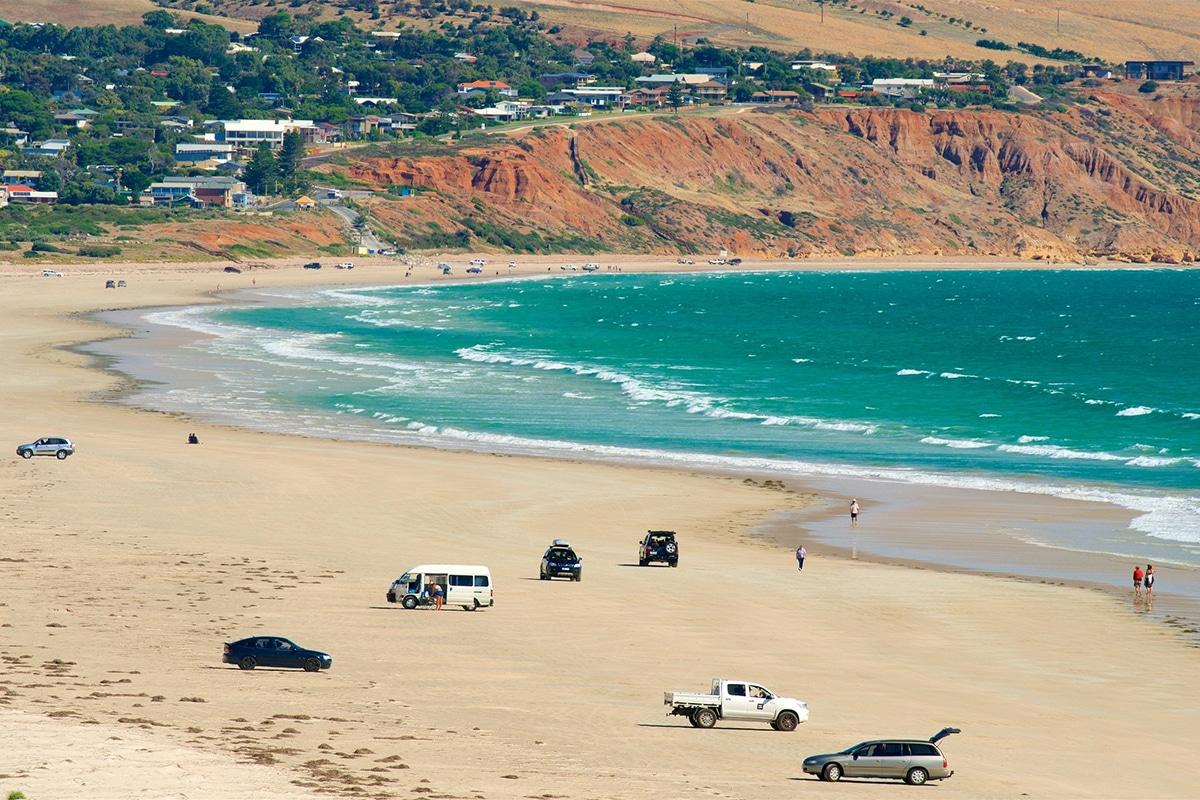 Beste Adelaide Strände zum Schwimmen, Surfen und Schnorcheln Aldinga Beach