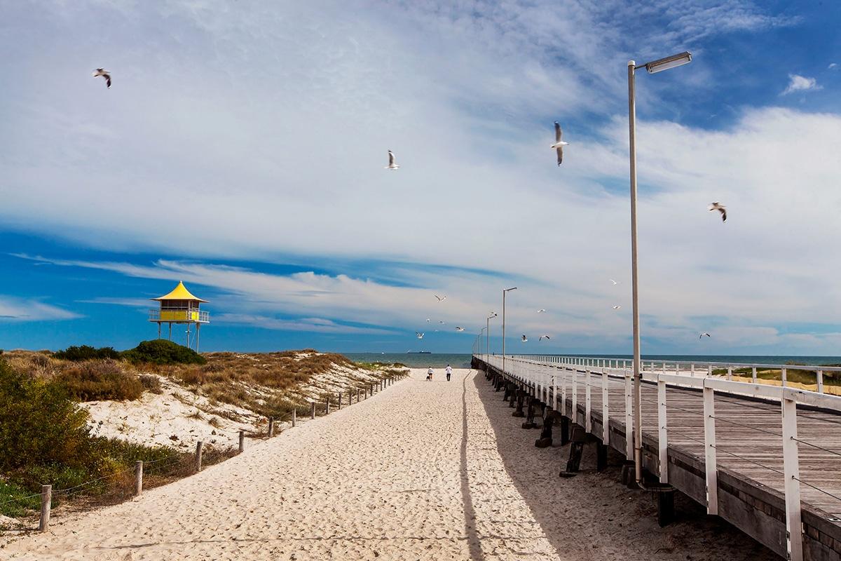 Beste Adelaide Strände zum Schwimmen, Surfen und Schnorcheln Semaphor