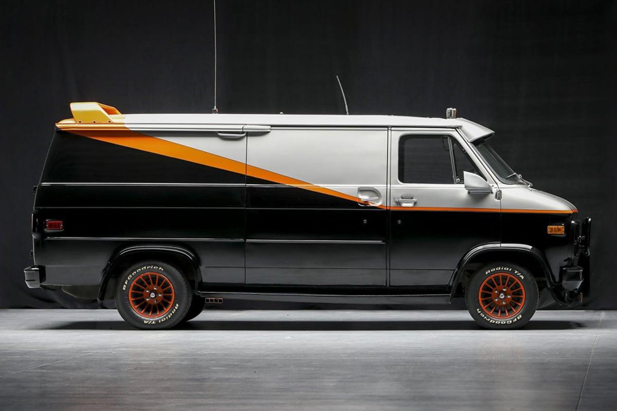 Ein Team Van zur Versteigerung