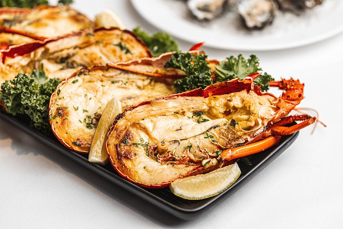 19. März Langham Meeresfrüchte Mittagessen