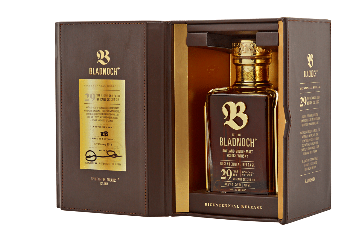 Zweihundertjähriger Scotch Whisky von Bladnoch