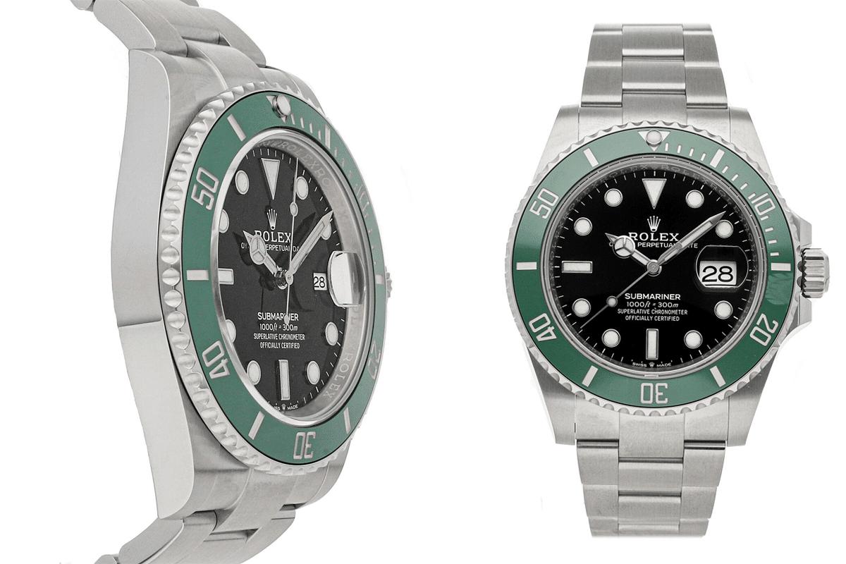 Rolex U-Boot Datum Kermit Auto Stahl Herren Austern Armband Uhr 126610lv