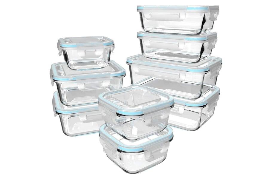 Lebensmittelbehälter aus Glas mit Deckel