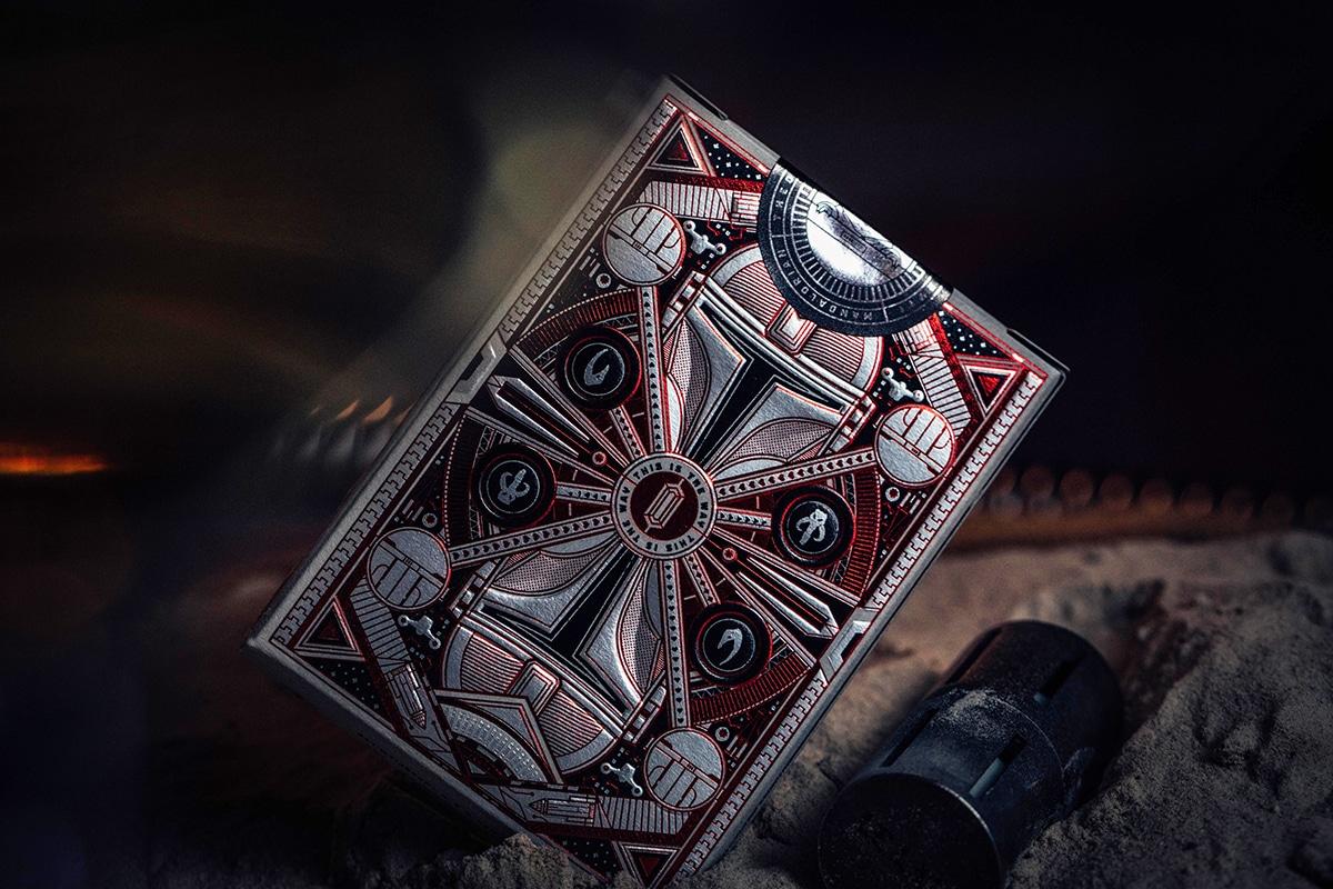 Mandalorianische Spielkarten auf der Rückseite der Schachtel