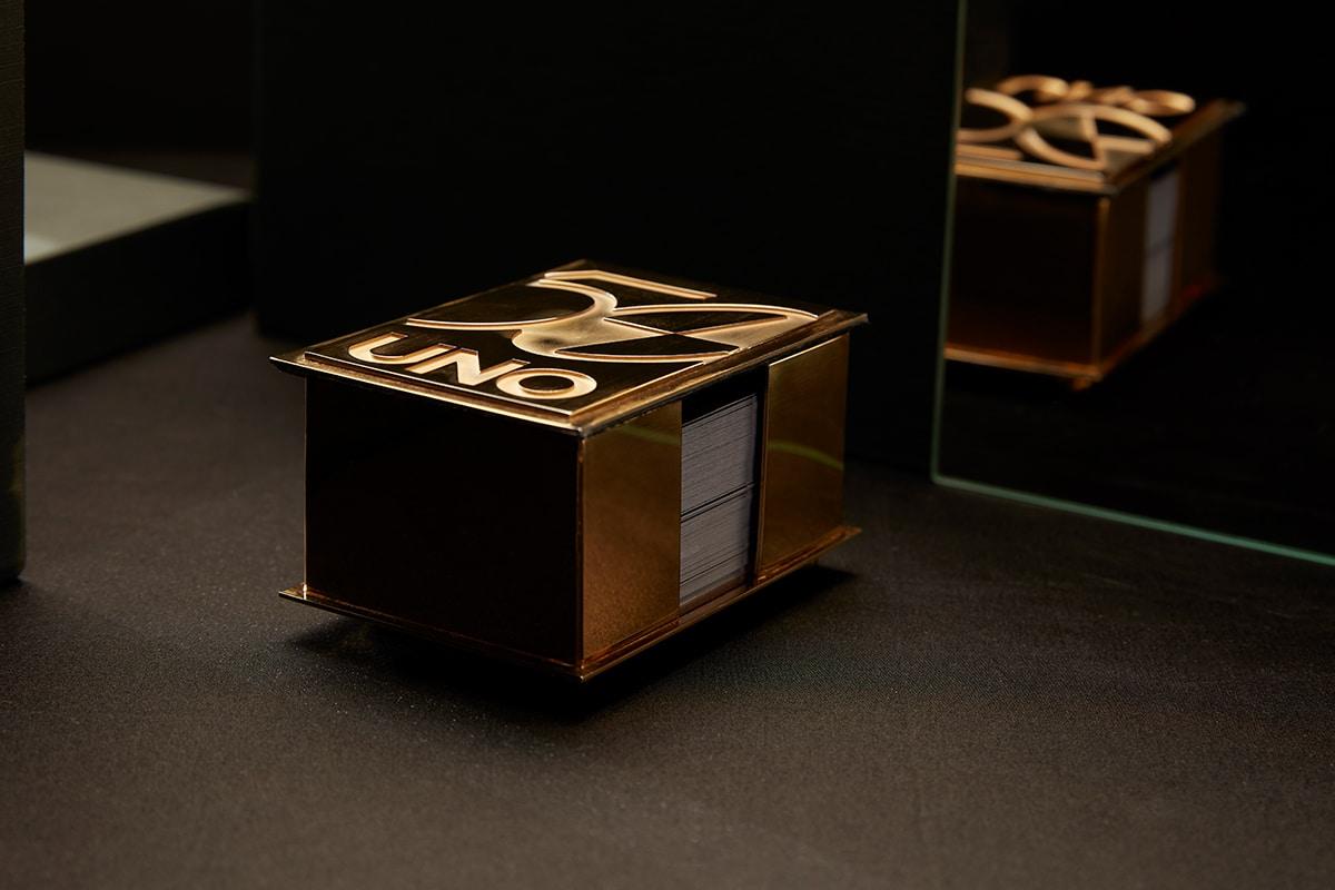 22 Karat Gold Uno Kartenhalter 3