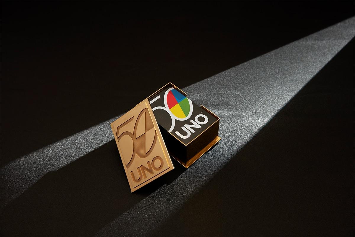 22 Karat Gold Uno Kartenhalter 1