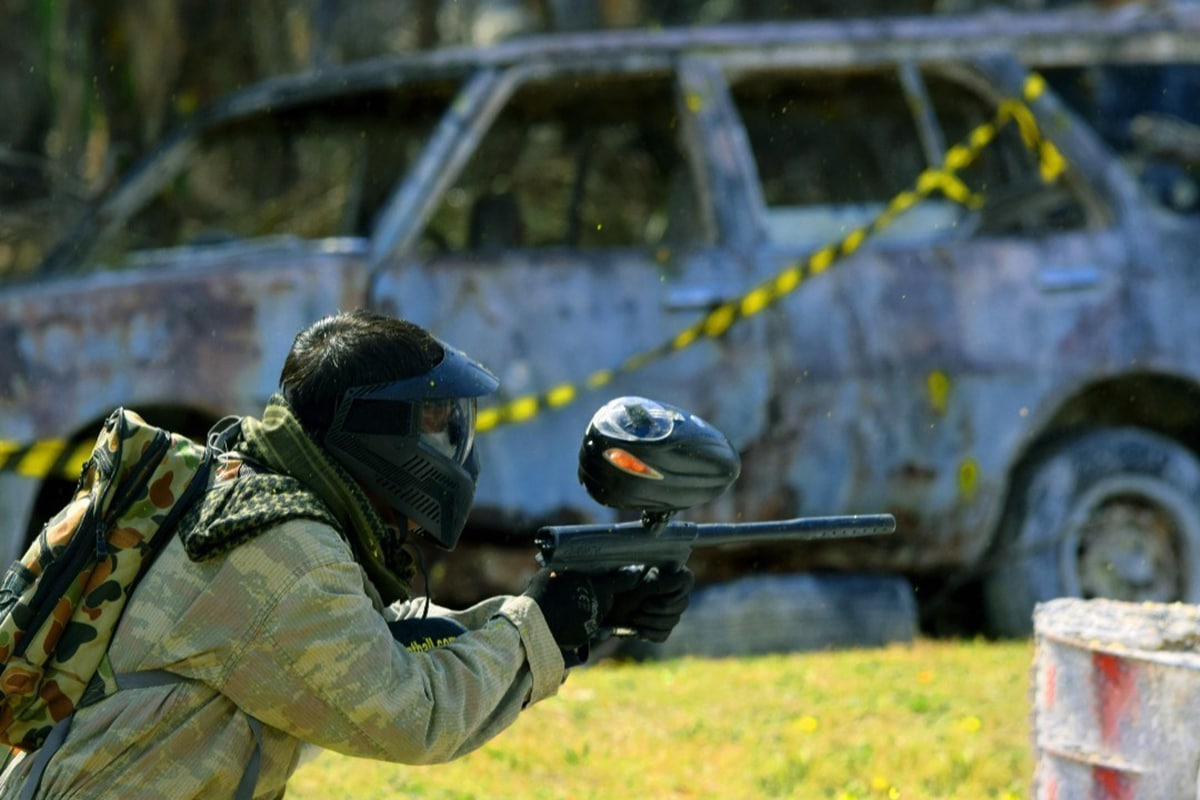 Action-Paintball-Spieler