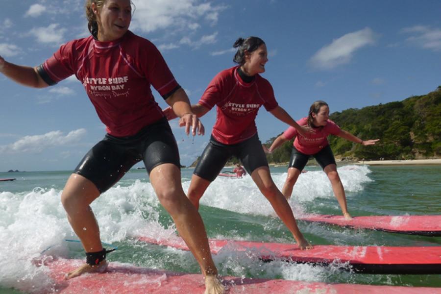 Stil Surfen Byron Bay