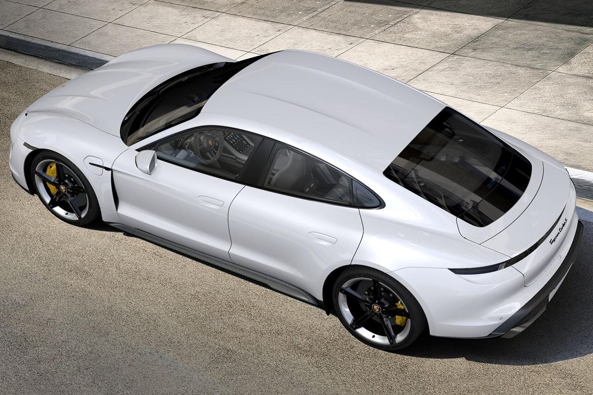 2021 Porsche Taycan Limousine Draufsicht