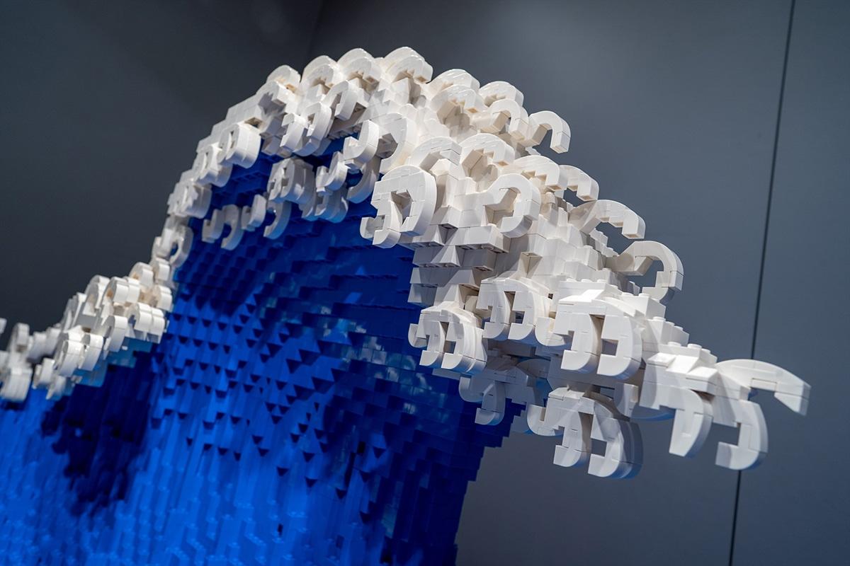 Die große Welle aus Lego