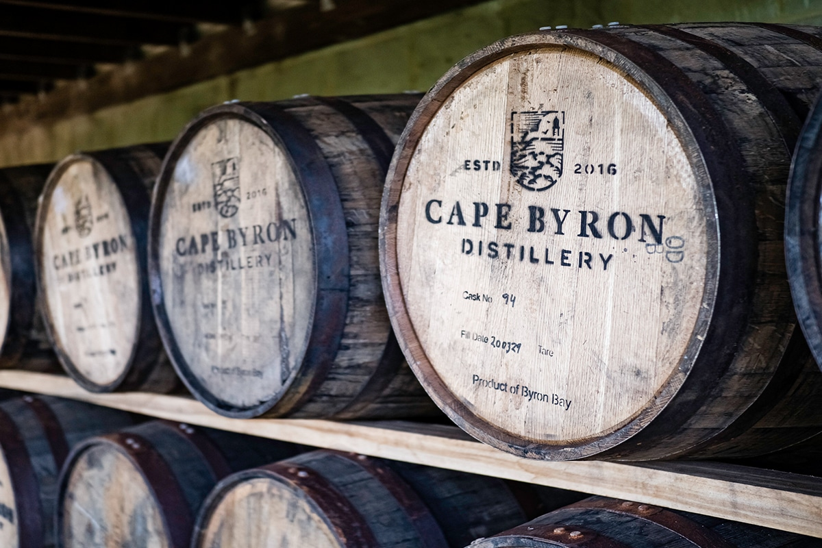 Cape Byron Whiskyfässer
