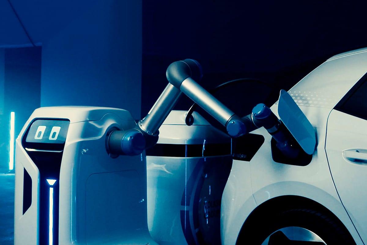 VW mobiler Laderoboterarm